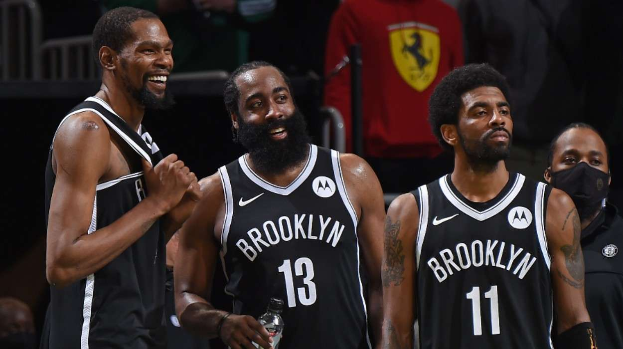 Kevin Durant James Harden Kyrie Irving Brooklyn Nets