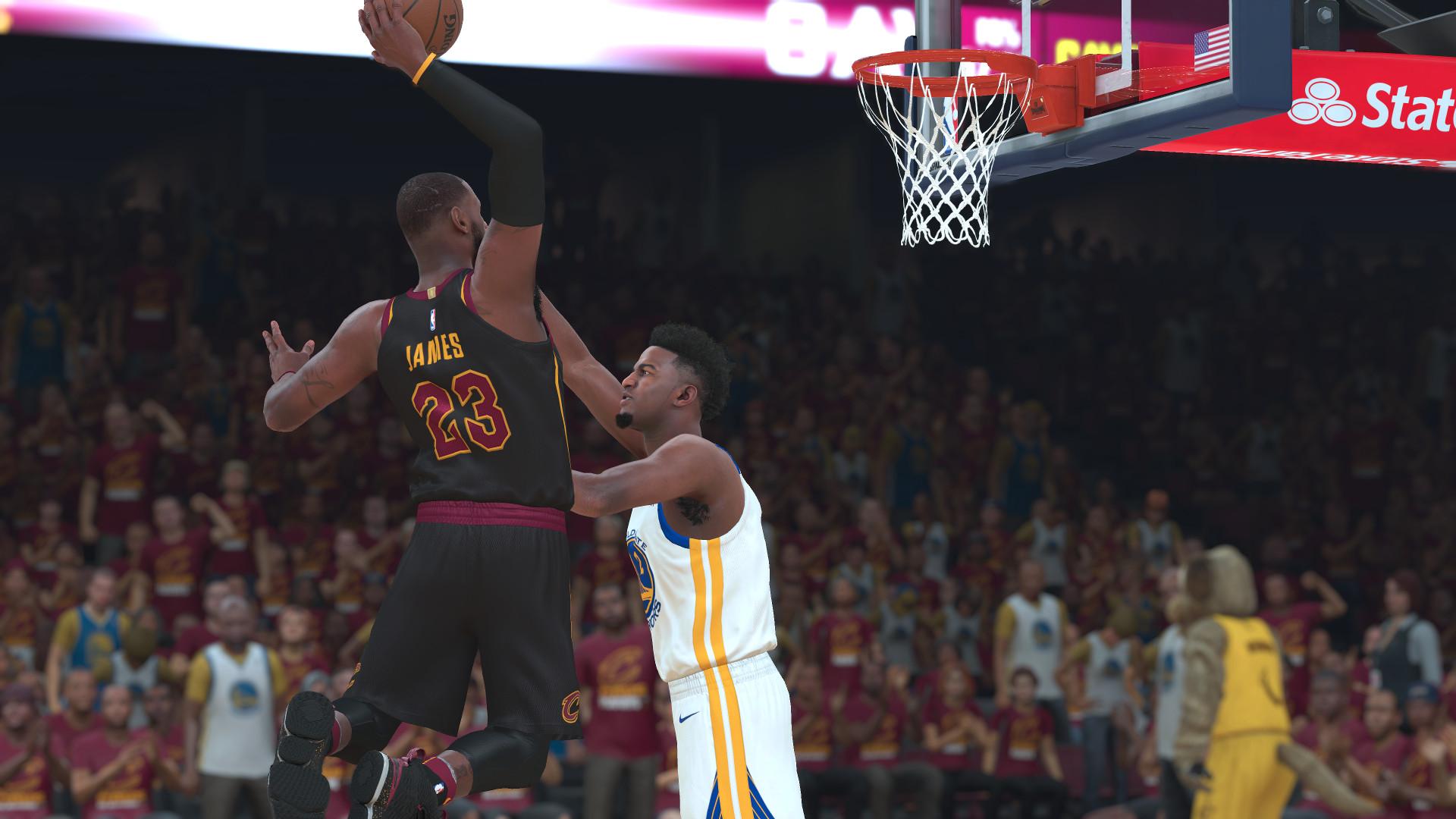 NBA 2K18 LeBron James dunk NBA Finals