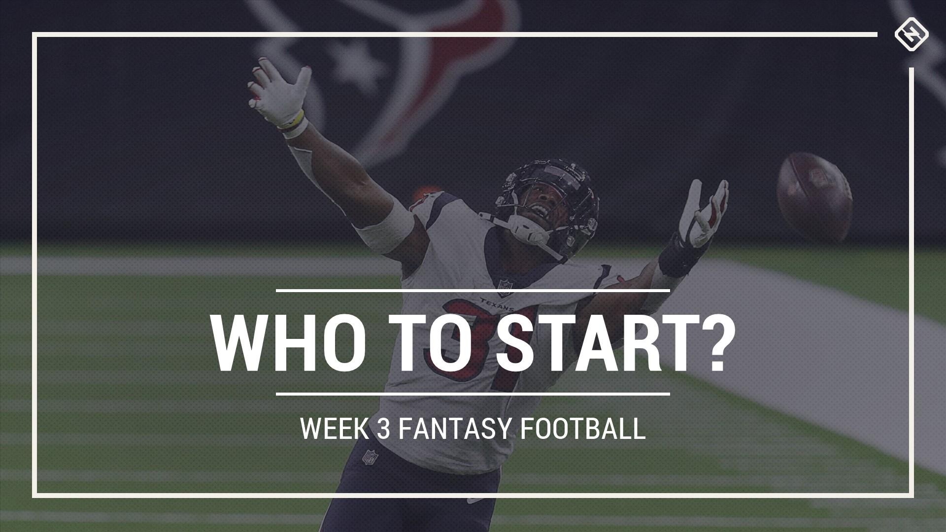 Who to start in fantasy football: Week 3 rankings, start sit advice for PPR, Standard, Superflex scoring 1