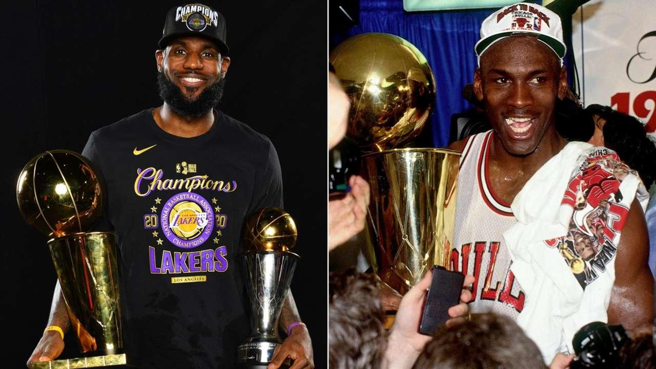 LeBron James Los Angeles Lakers Michael Jordan Chicago Bulls
