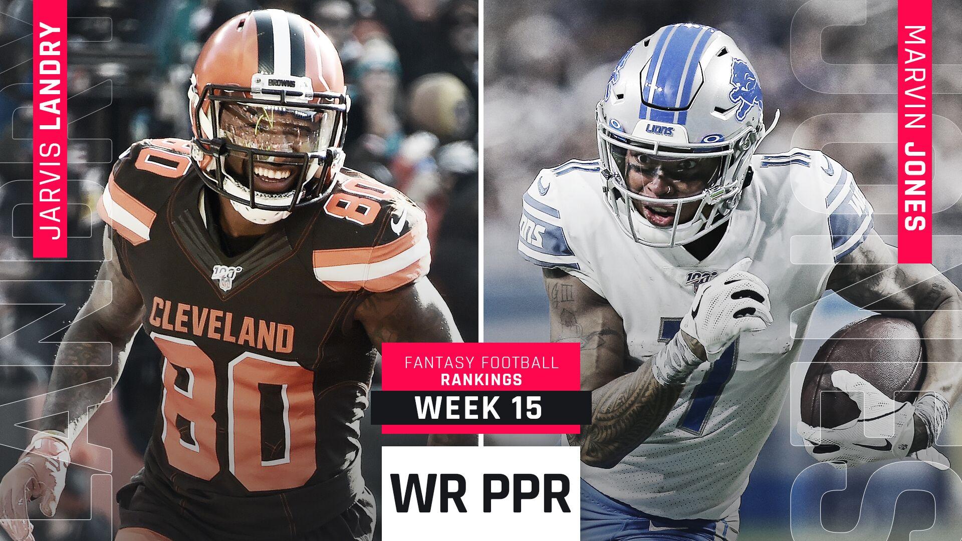 Week 15 PPR Rankings: WR