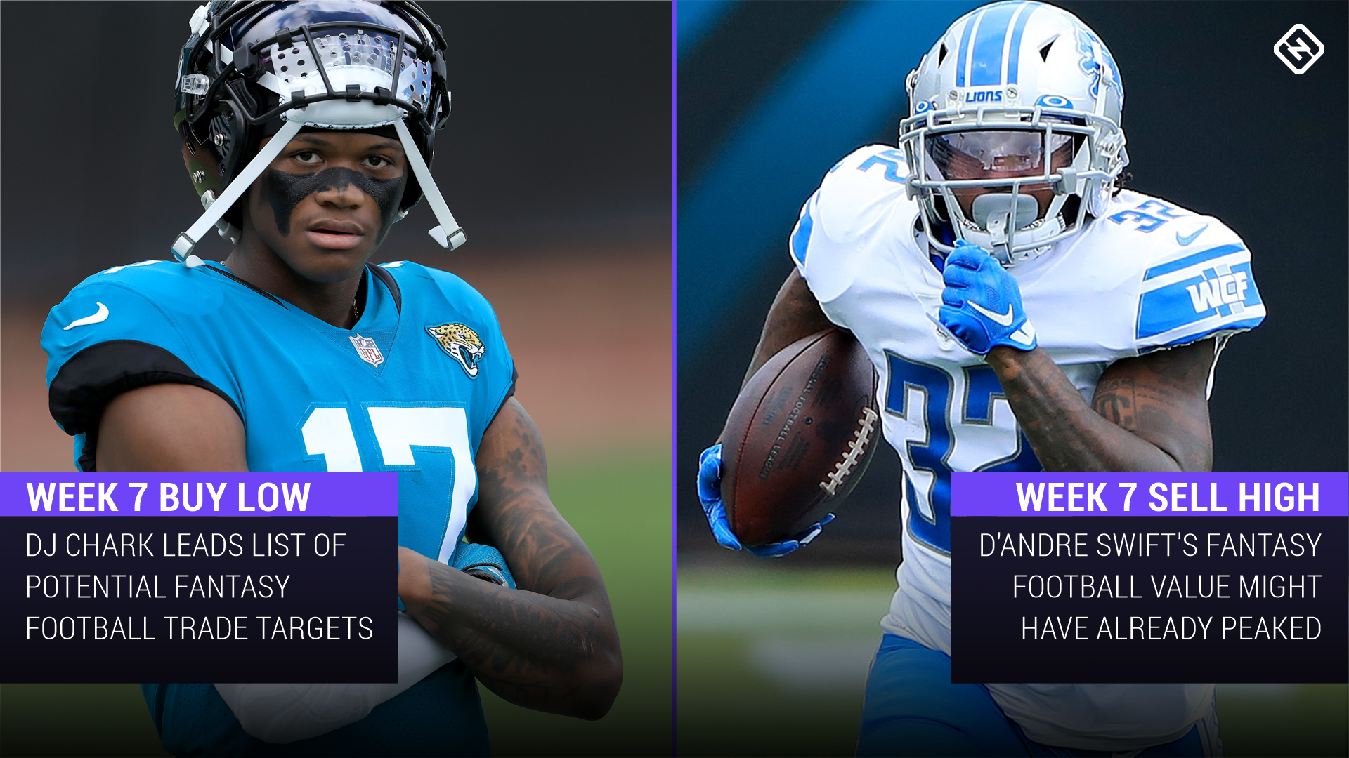Fantasy Football Buy-Low, Sell-High Stock Watch: DJ Chark, D'Andre Swift among trade candidates heading into Week 7