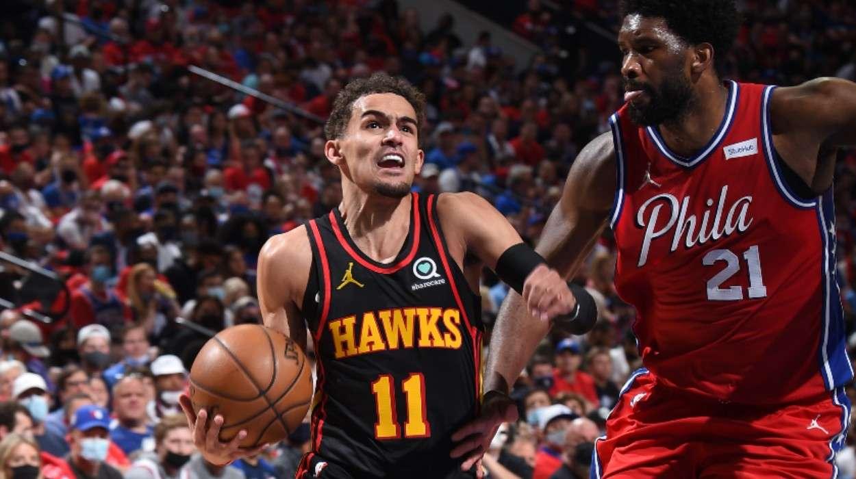 Trae Young Atlanta Hawks Joel Embiid Philadelphia 76ers
