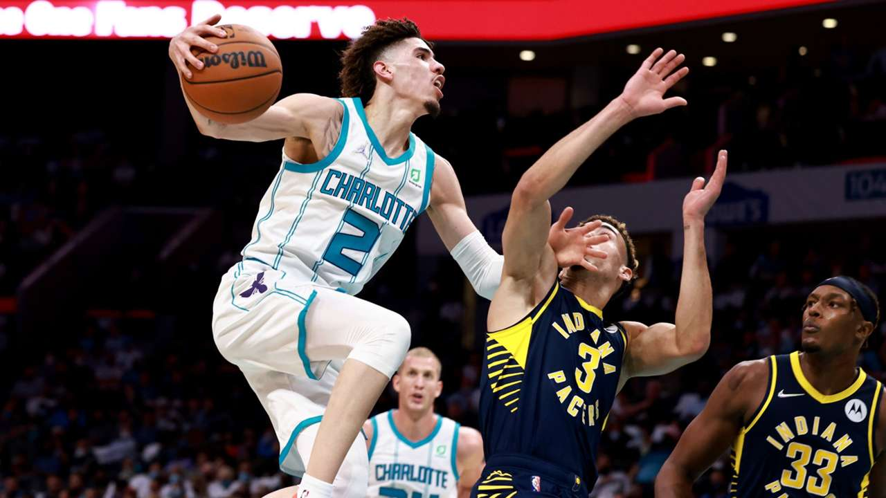 LaMelo Ball had a monster night in Charlotte's win over Indiana