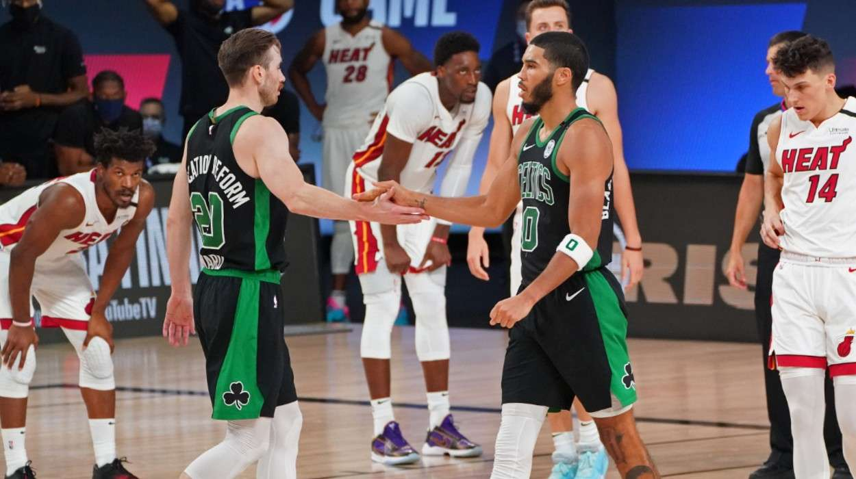 Gordon Hayward Jayson Tatum Boston Celtics