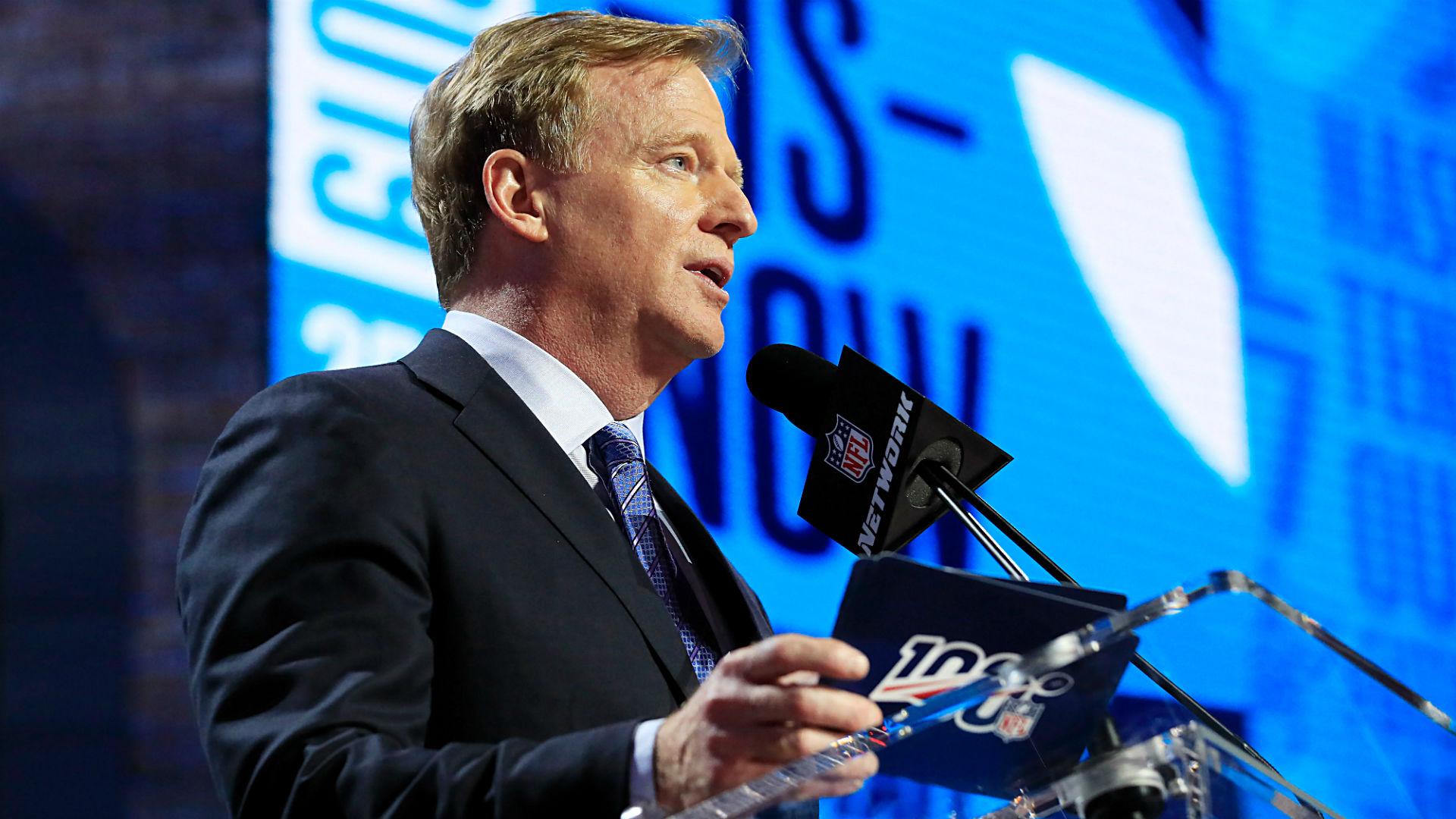 El Draft 2020 de la NFL continuará según lo programado, Roger Goodell le dice a los equipos 12