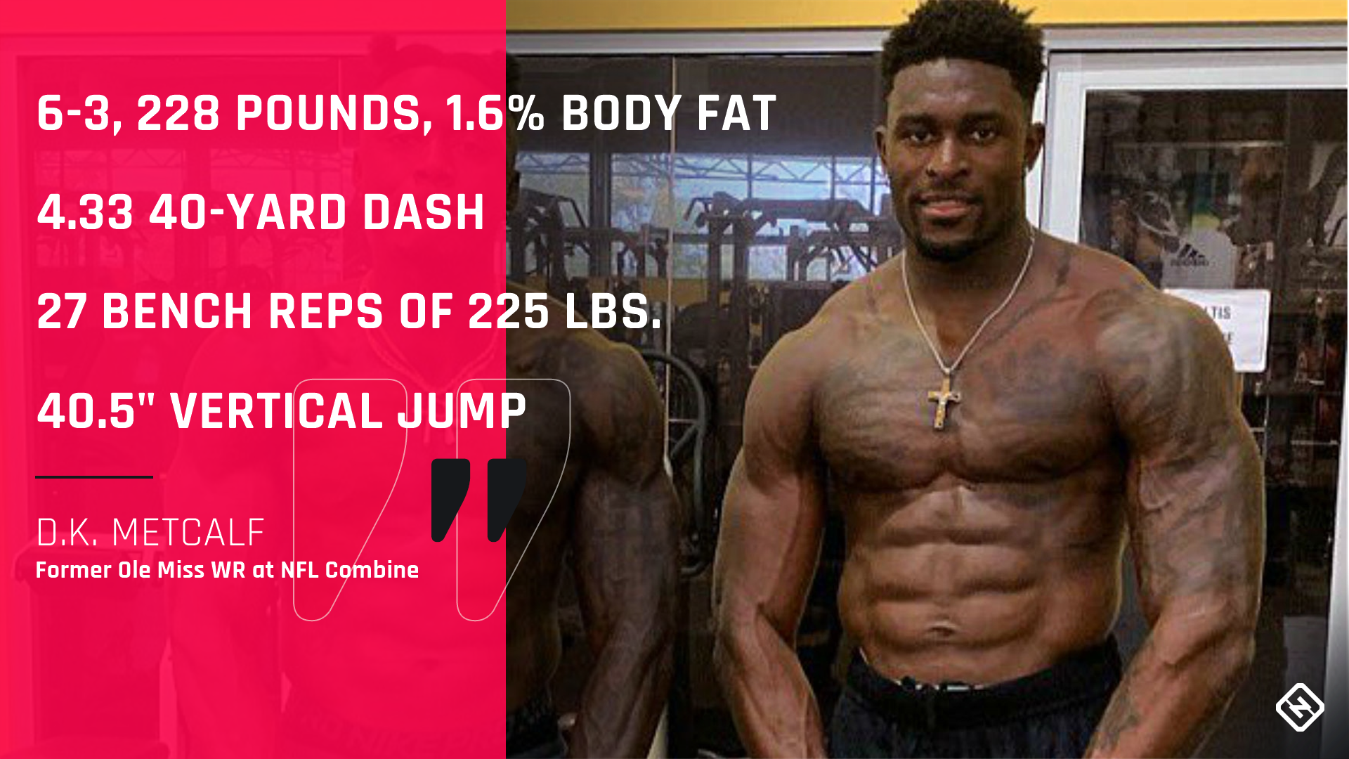 D K Metcalf S Ridiculous Nfl Combine Performance Is Igniting Social Media Sporting News