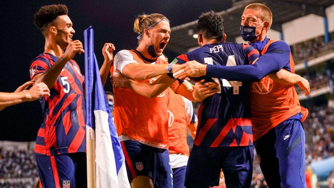 USMNT - celebration - World Cup qualifying - September 2021