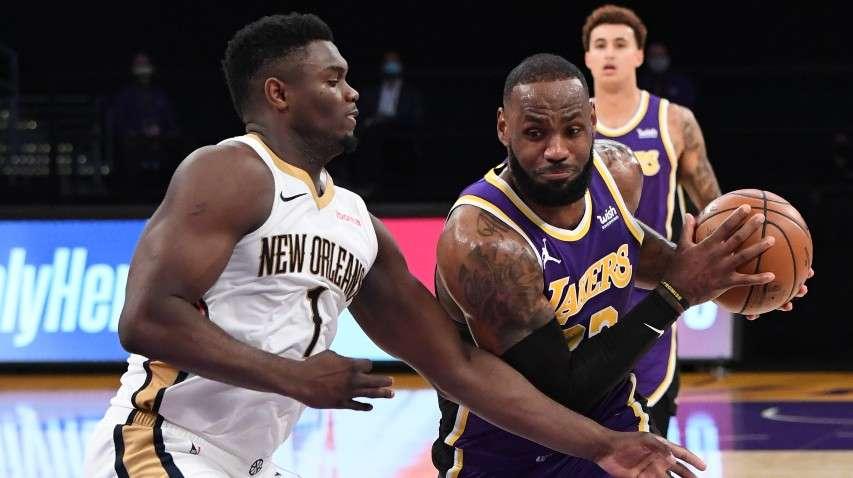 LeBron James Los Angeles Lakers Zion Williamson New Orleans Pelicans