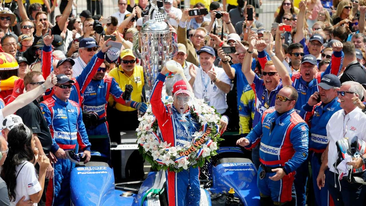 Takuma Sato wins the 101st Indy 500.