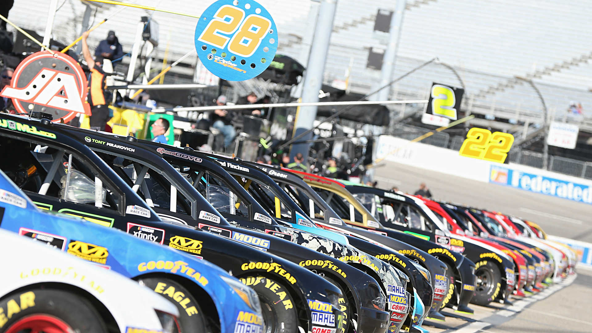 NASCAR lineup in Richmond: starting order without qualifying for Sunday's race