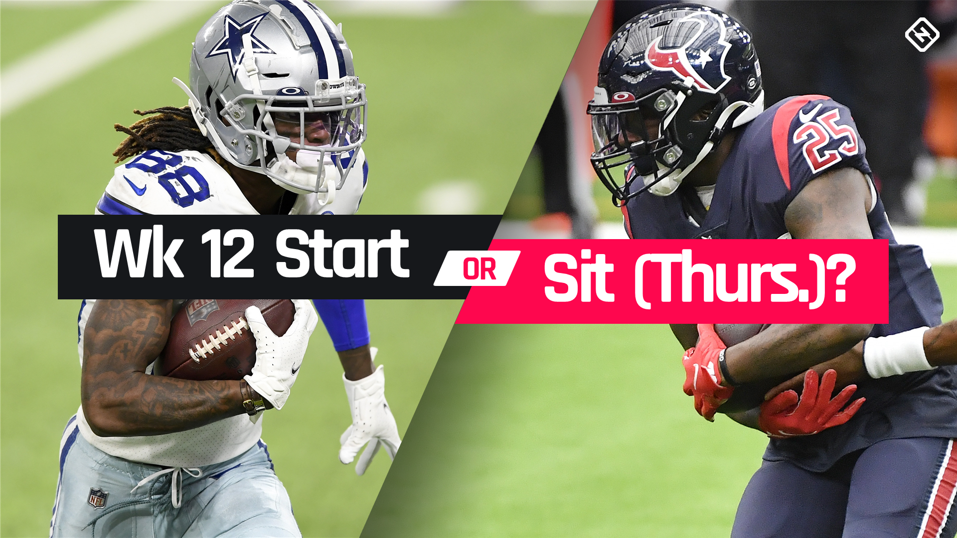 Who to start, sit in fantasy football for NFL Thanksgiving games Week 12