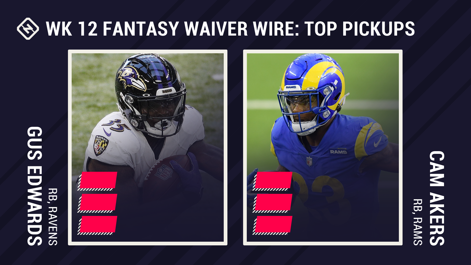 Fantasy Waiver Wire Week 12: Gus Edwards, Cam Akers among top free agent pickups thanks to expanded roles