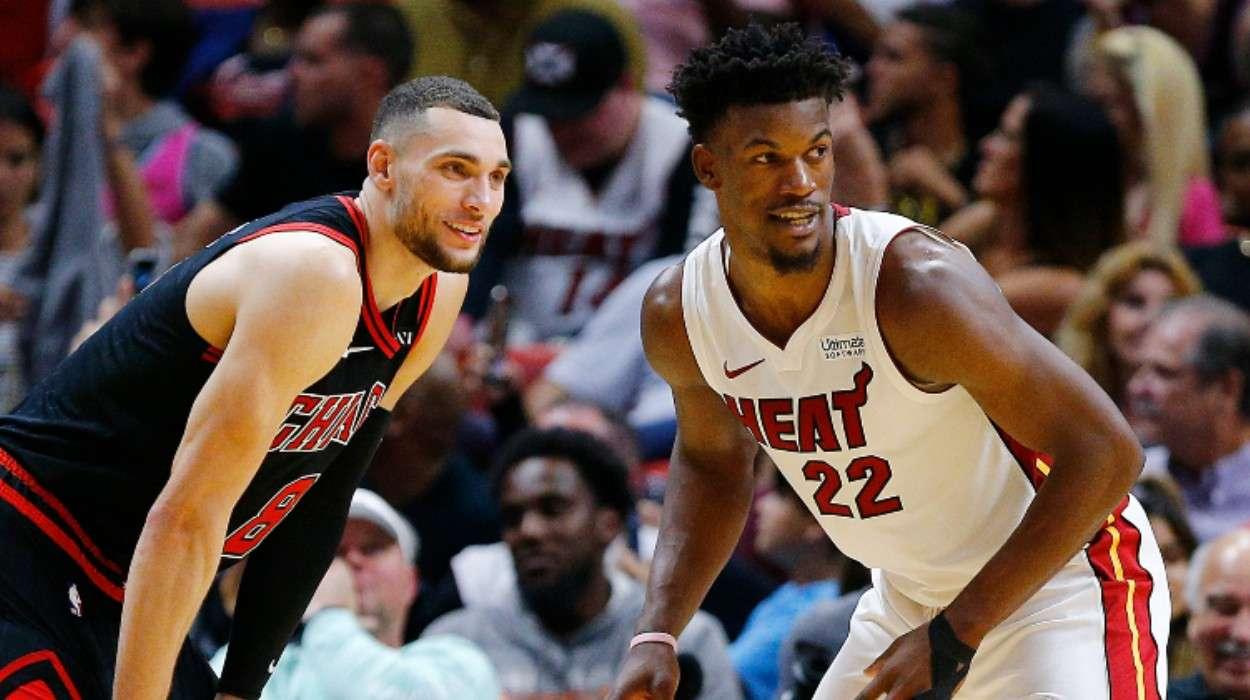 Zach LaVine Chicago Bulls Jimmy Butler Miami Heat