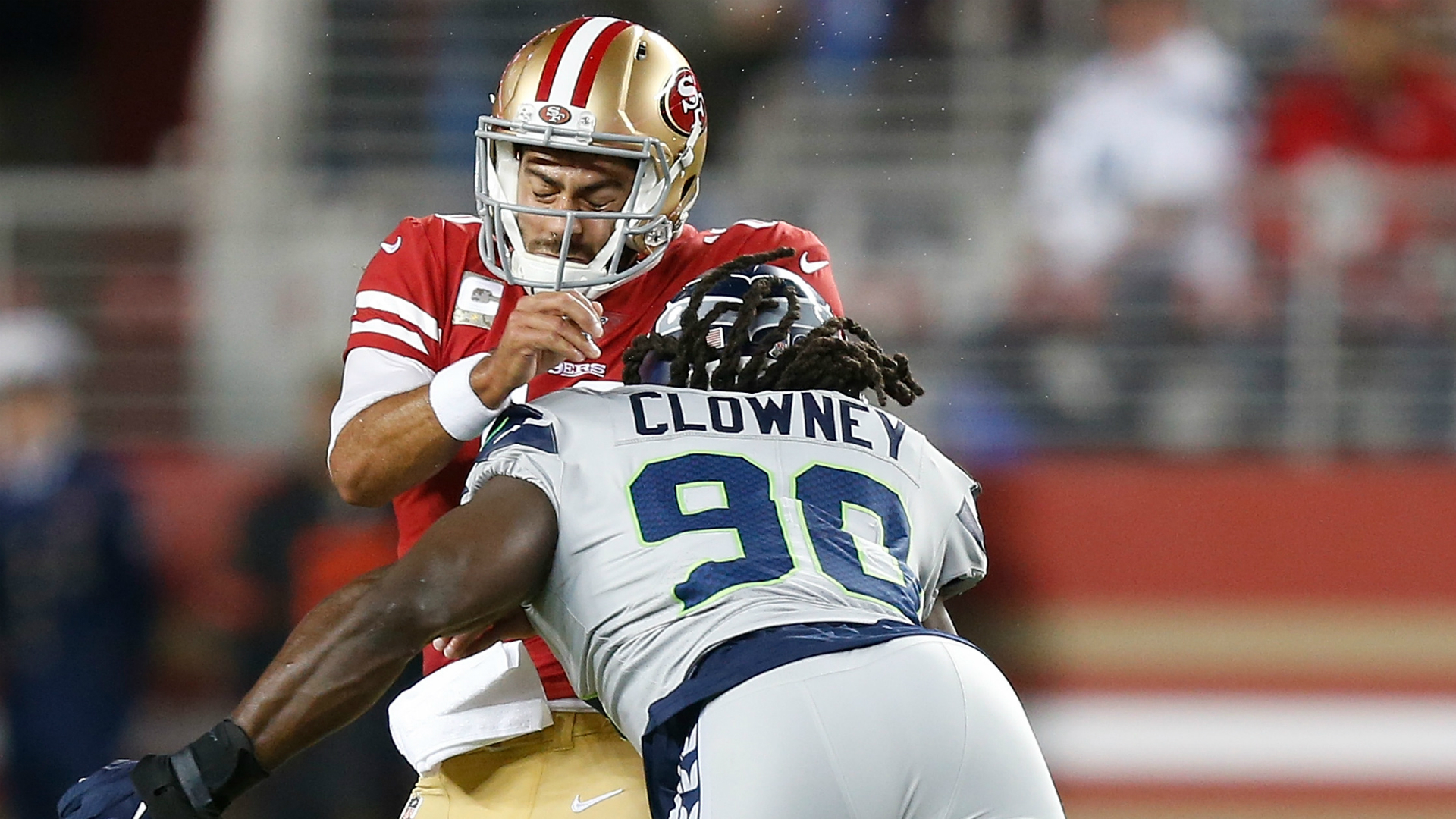 Russell Wilson credits 'incredible force' Jadeveon Clowney after wildest game of career