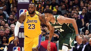 LeBron James Los Angeles Lakers Giannis Antetokounmpo Milwaukee Bucks
