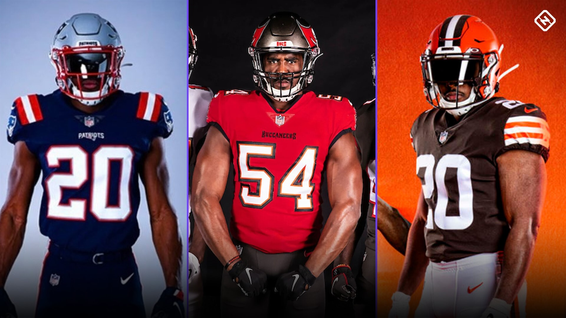 new nfl uniforms 2020 here are the jerseys for patriots buccaneers falcons browns and chargers sporting news new nfl uniforms 2020 here are the