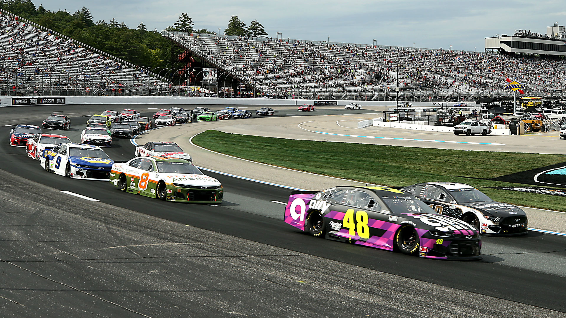 Who won the NASCAR race yesterday? Complete results from New Hampshire 1