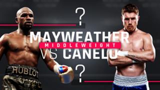 Canelo v Mayweather Mock Fight