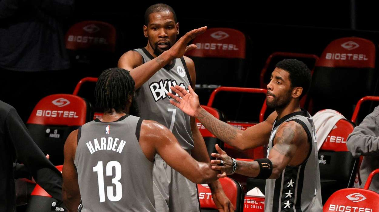 James Harden Kevin Durant Kyrie Irving Brooklyn Nets