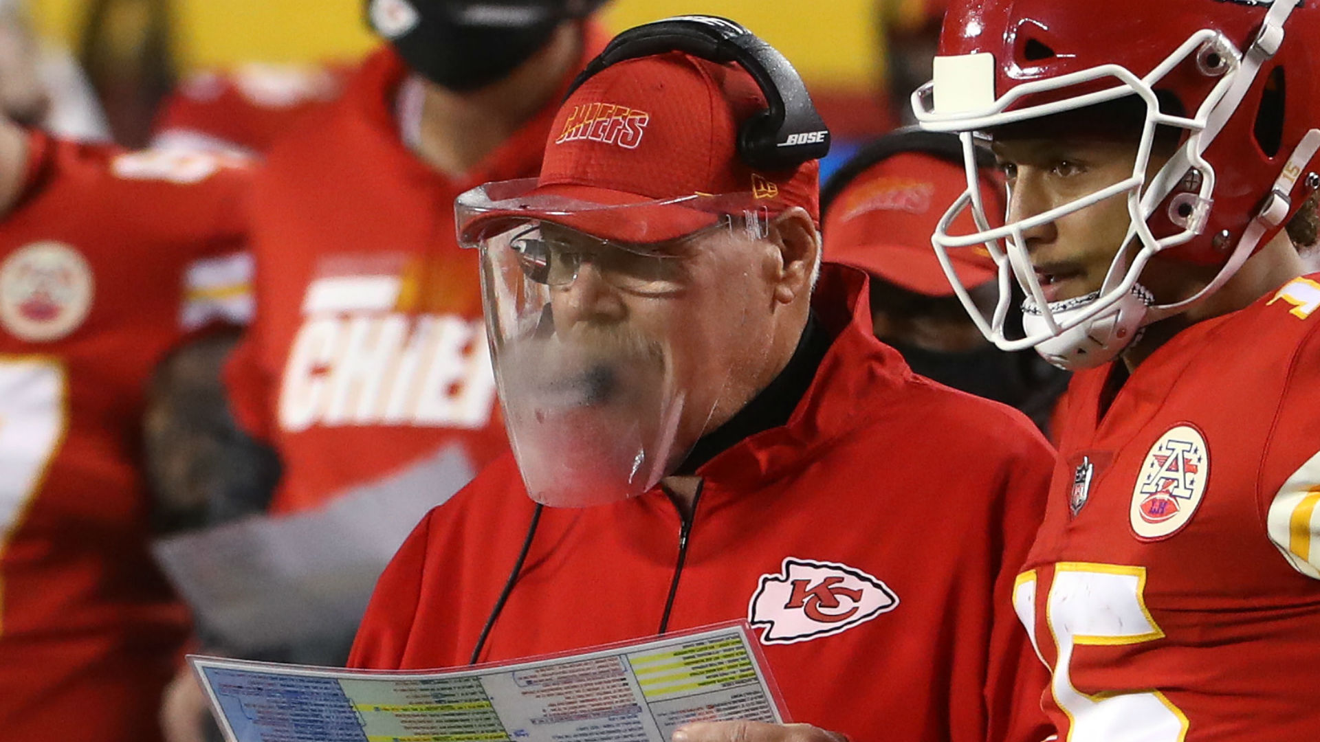Andy Reid's foggy face shield steals the show on NFL opening night; Twitter reacts accordingly
