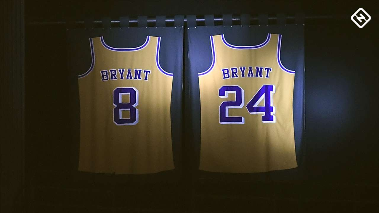 Kobe Bryant is the only player in NBA history with two different jersey numbers retired by the same team.
