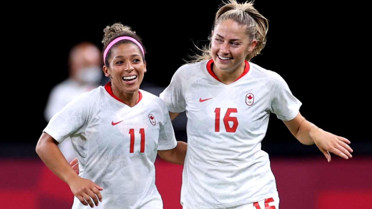 Janine Beckie - Desiree Scott - Canada - 2021 Olympics