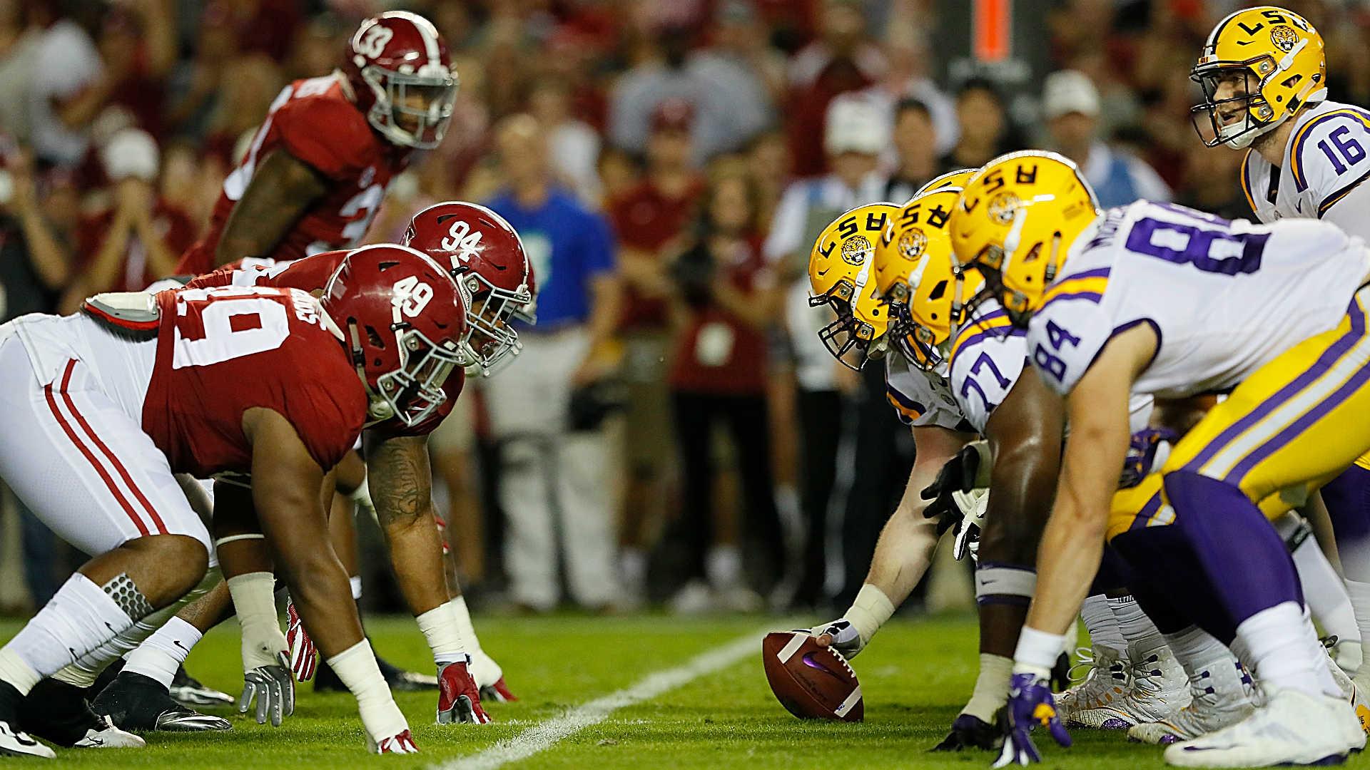 Why isn't Alabama vs. LSU played at night? CBS used its ...