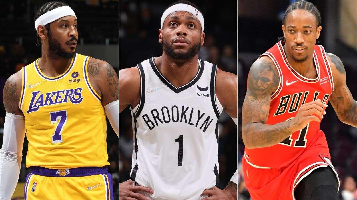 Carmelo Anthony Los Angeles Lakers Bruce Brown Brooklyn Nets DeMar DeRozan Chicago Bulls