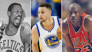 Bill Russell-Michael Jordan-Steph Curry-051216-GETTY-SLIDE.jpg
