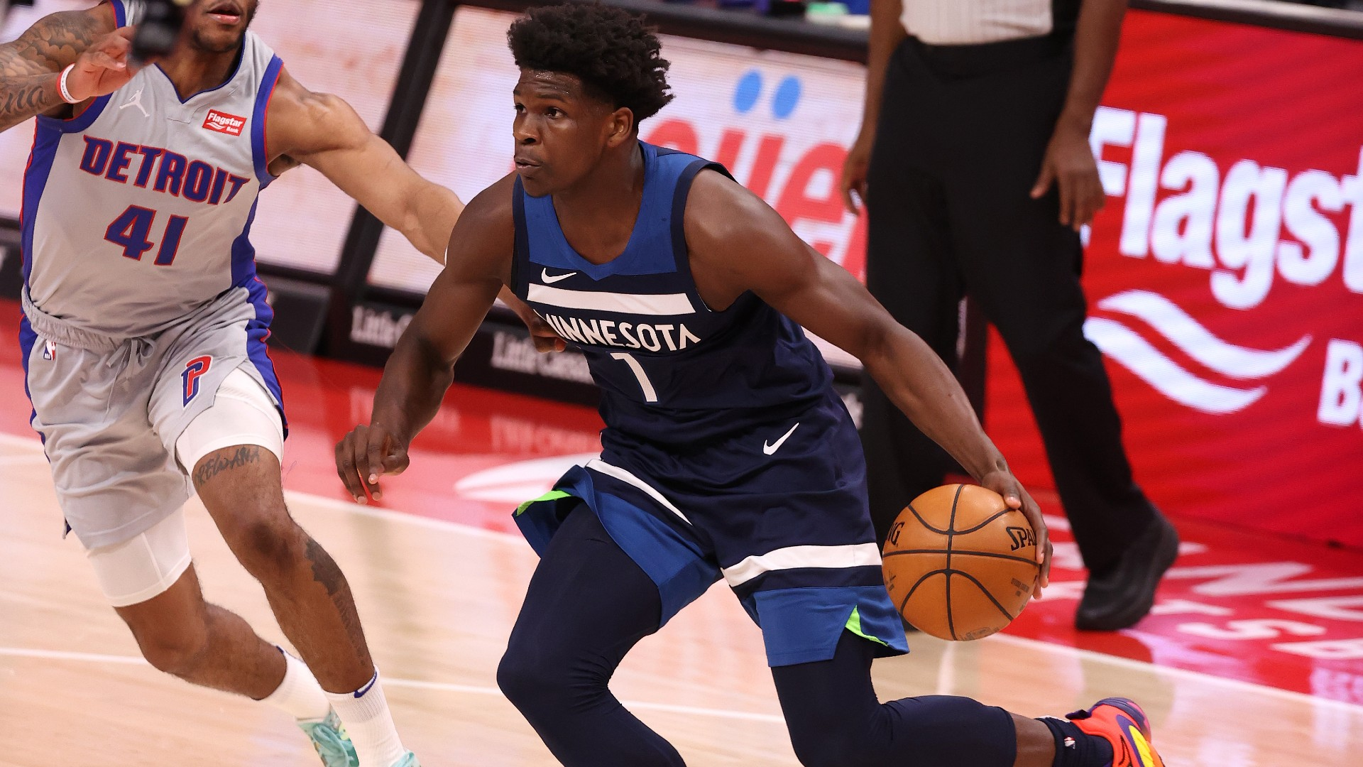 Timberwolves 'Anthony Edwards using LaMelo Ball's Rookie of the Year award as motivation
