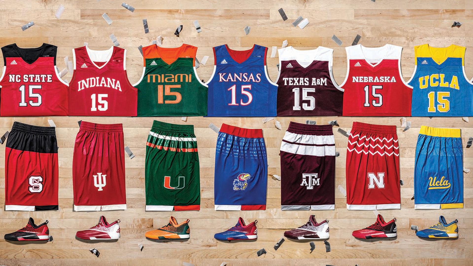 adidas unveils 'School Pride' basketball uniforms for 2016 NCAA ...
