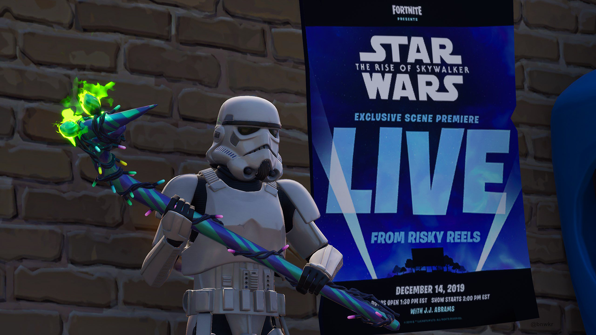 Fortnite Star Wars event: How to watch 'Rise of Skywalker' scene at Risky Reels