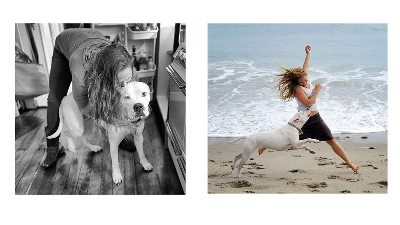 Woman's best friend: Ronda Rousey and her dog Mochi