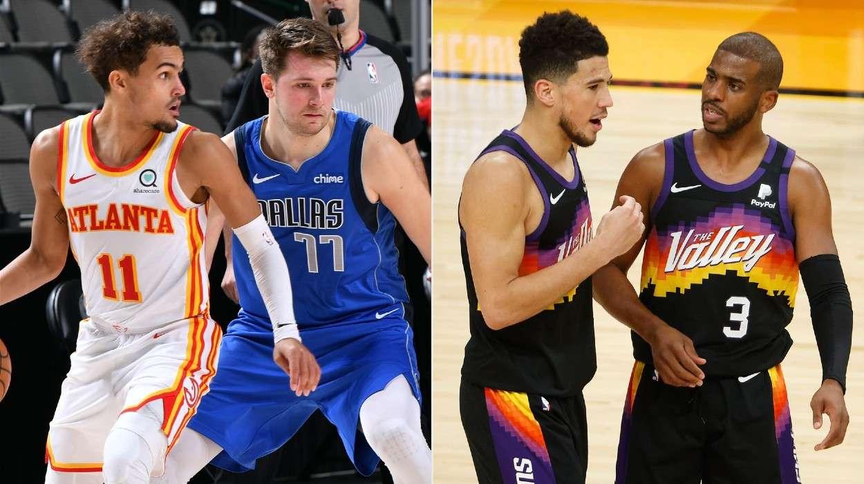 Atlanta Hawks Trae Young Dallas Mavericks Luka Doncic Chris Paul Devin Booker Phoenix Suns
