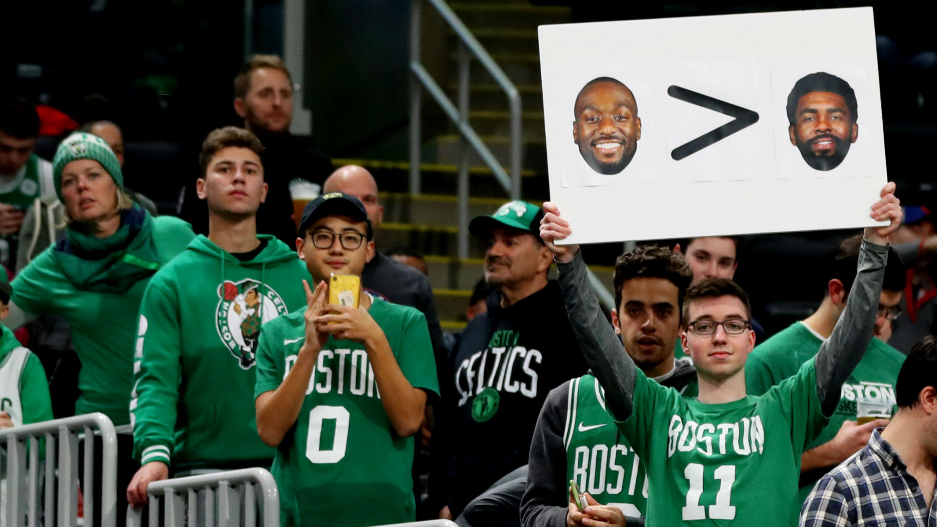 Why Kyrie Irving Wants To Play Celtics Kemba Walker 1 On 1 Sporting News