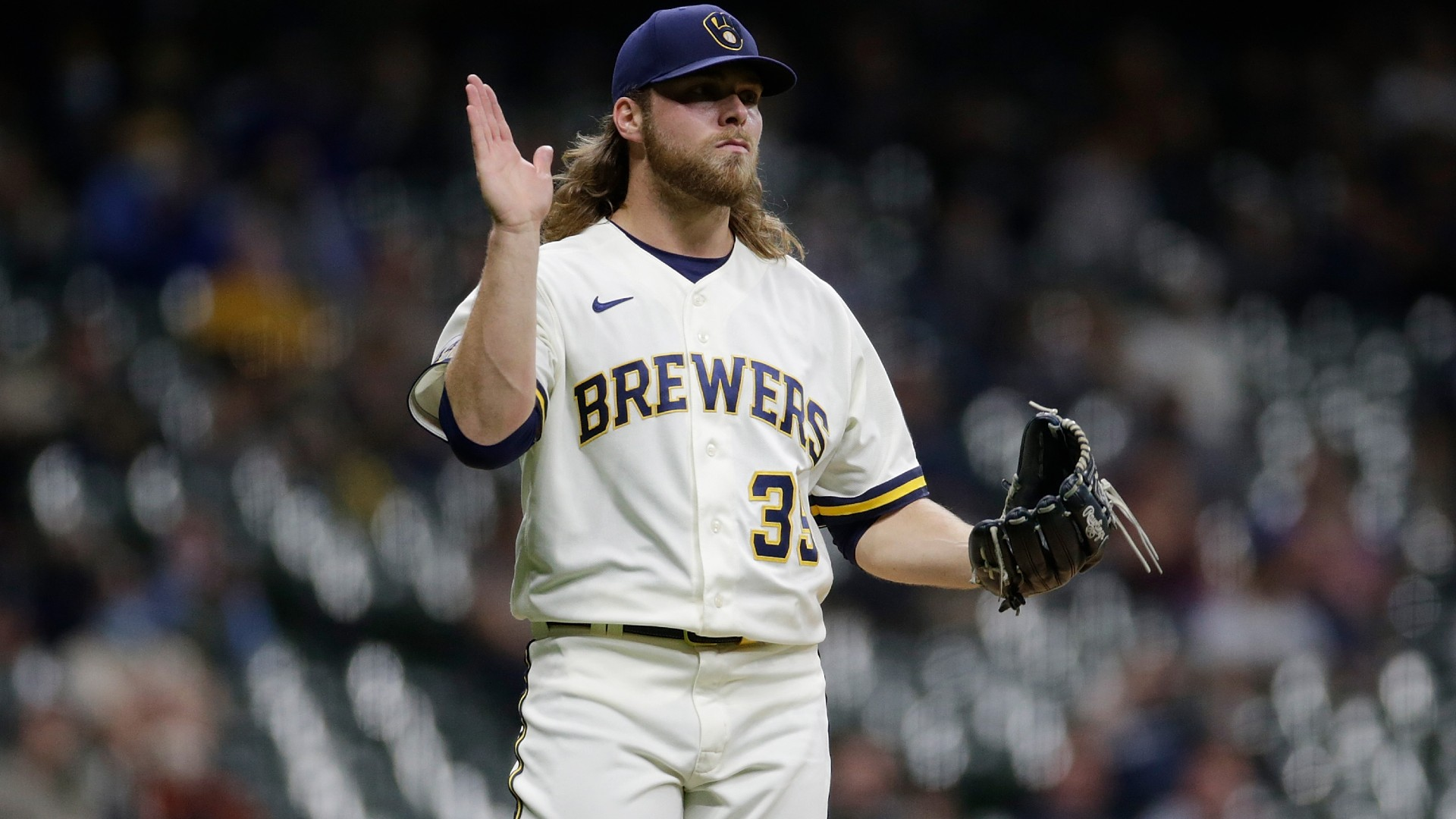 Brewers' Corbin Burnes sets multiple MLB retirement records before throwing first step of season