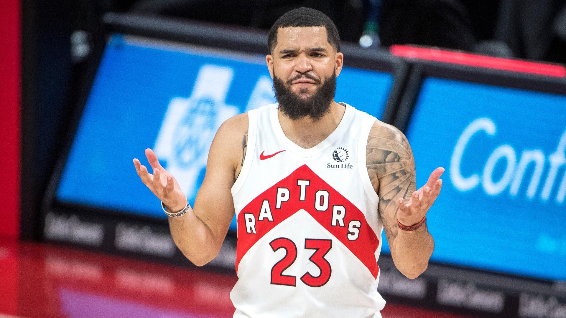 Fred VanVleet laughed after the Raptors-Lakers clash