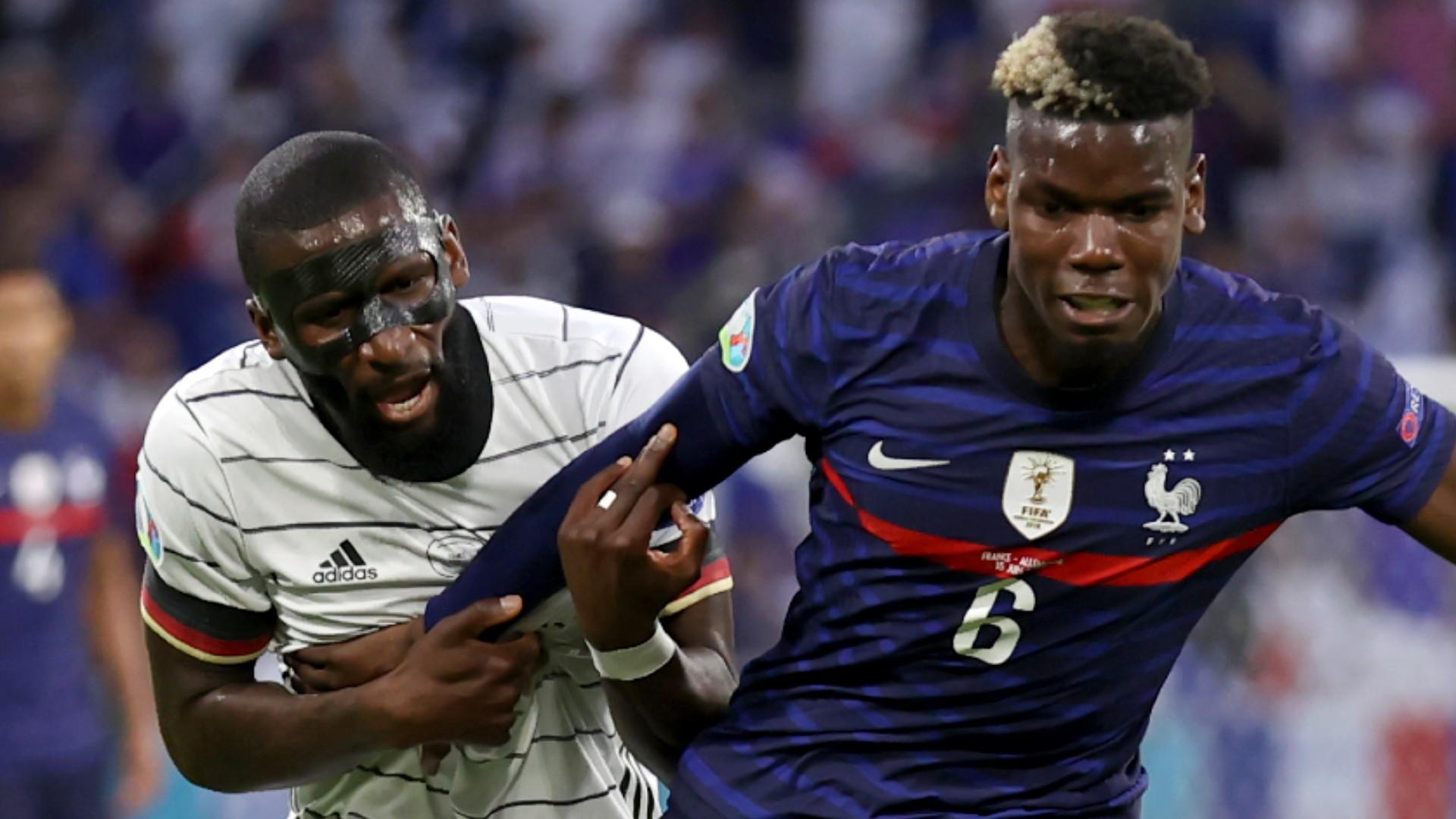 Bite Incident at Euro 2021: Rudiger Appears to Bite Paul Pogba's Back in France vs. Germany