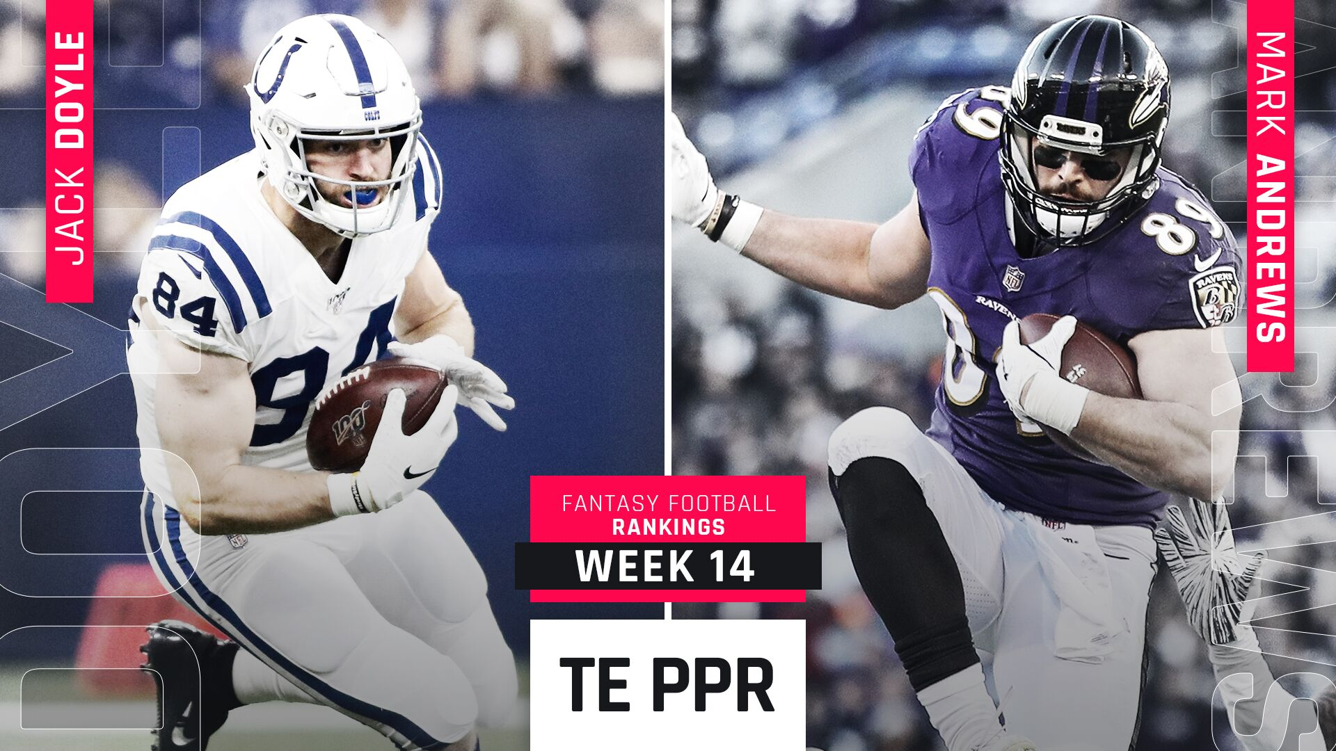 Week 14 Fantasy PPR Rankings: Tight end