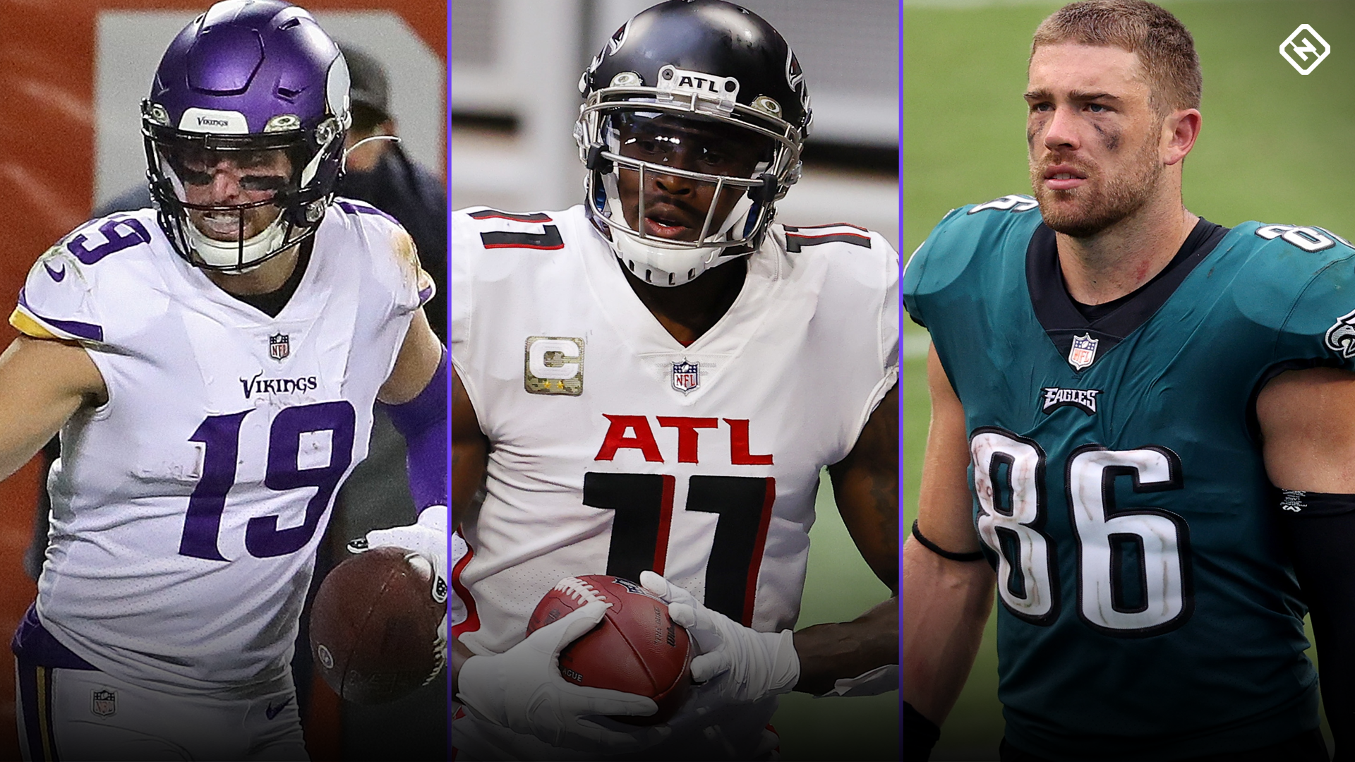 Fantasy Injury Updates: Adam Thielen, Julio Jones, Zach Ertz, more affecting Week 12 start-sit decisions