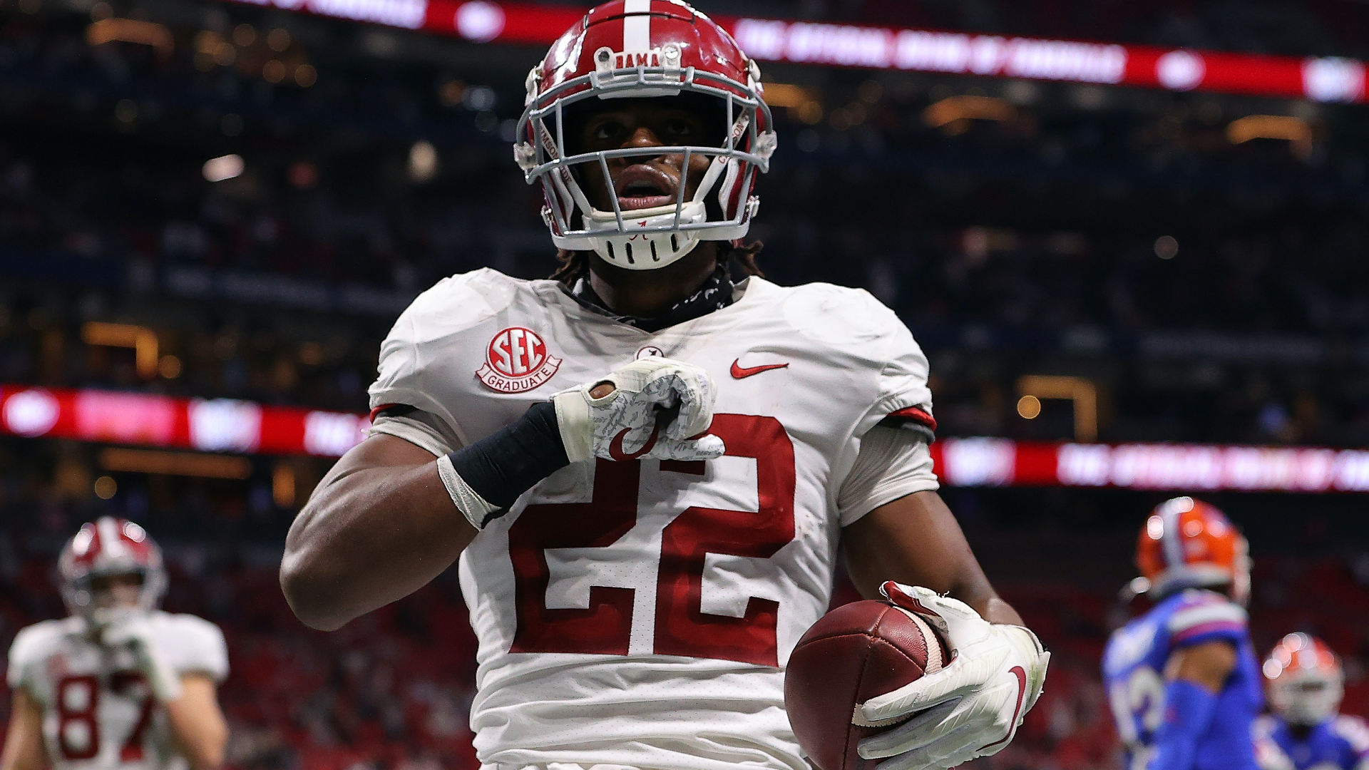 Najee Harris mock draft: Buccaneers, Steelers, Jets among best 2021 NFL  Draft fits for Alabama RB | Sporting News