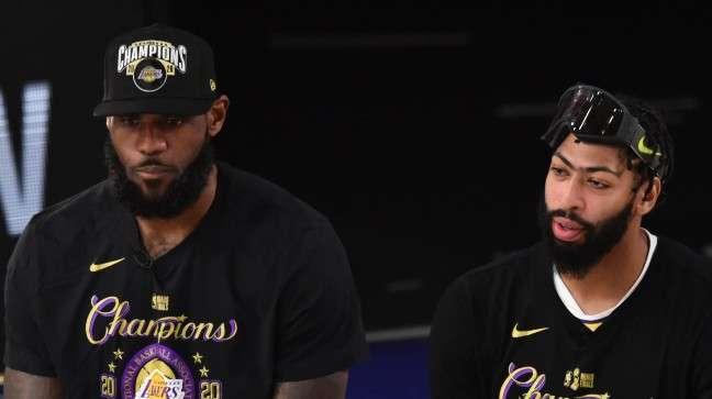 LeBron James Los Angeles Lakers Anthony Davis