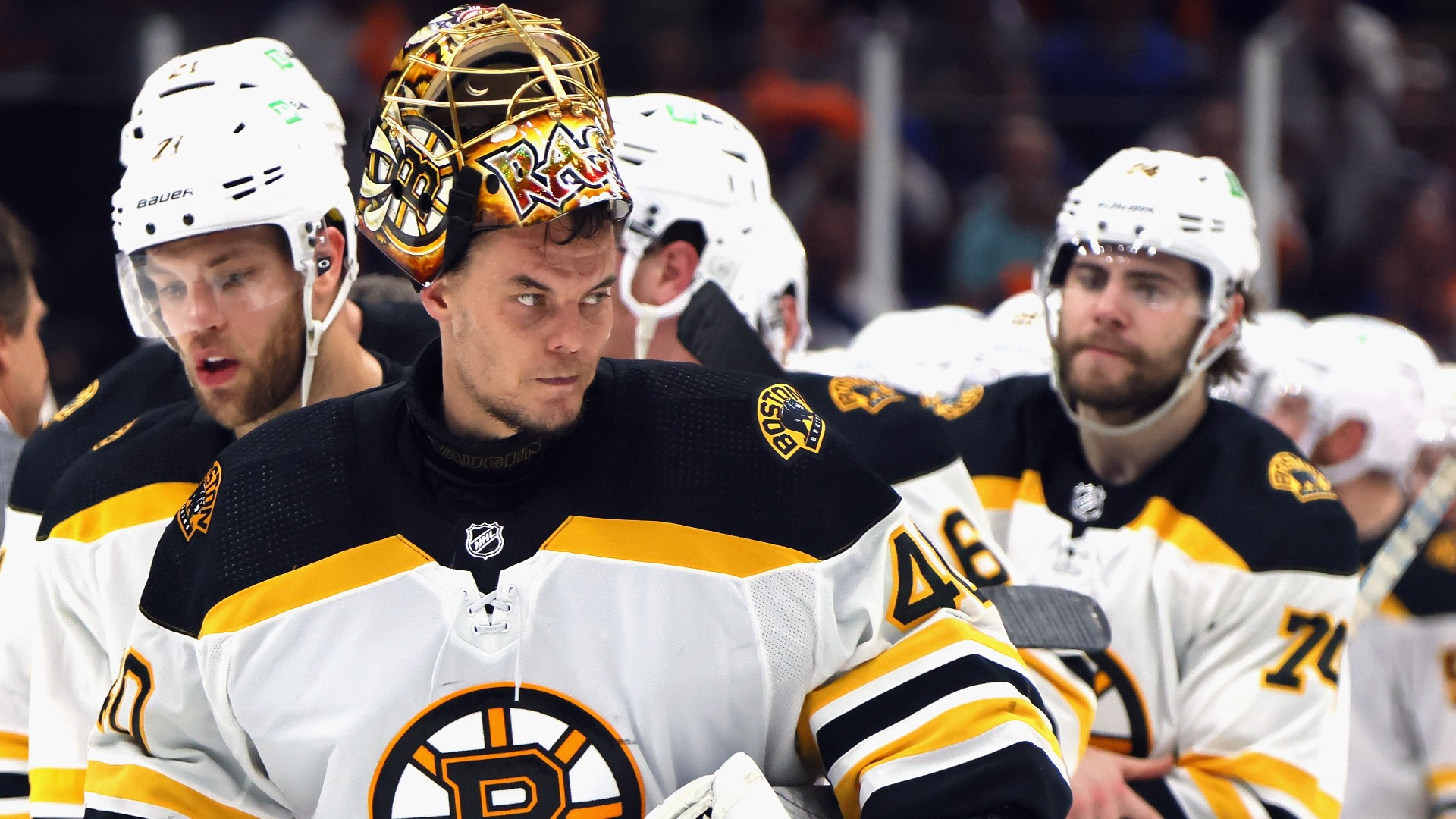 The Tuinska Rask of the Bruins played through hip-labrum, possibly losing the start of the NHL season