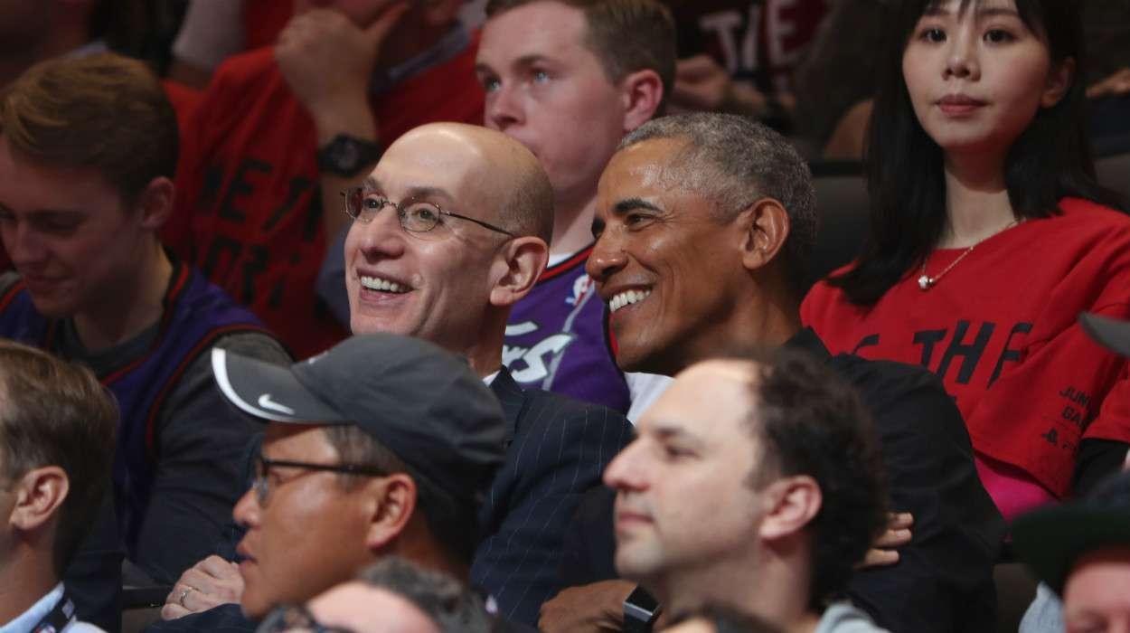 Adam Silver Barack Obama