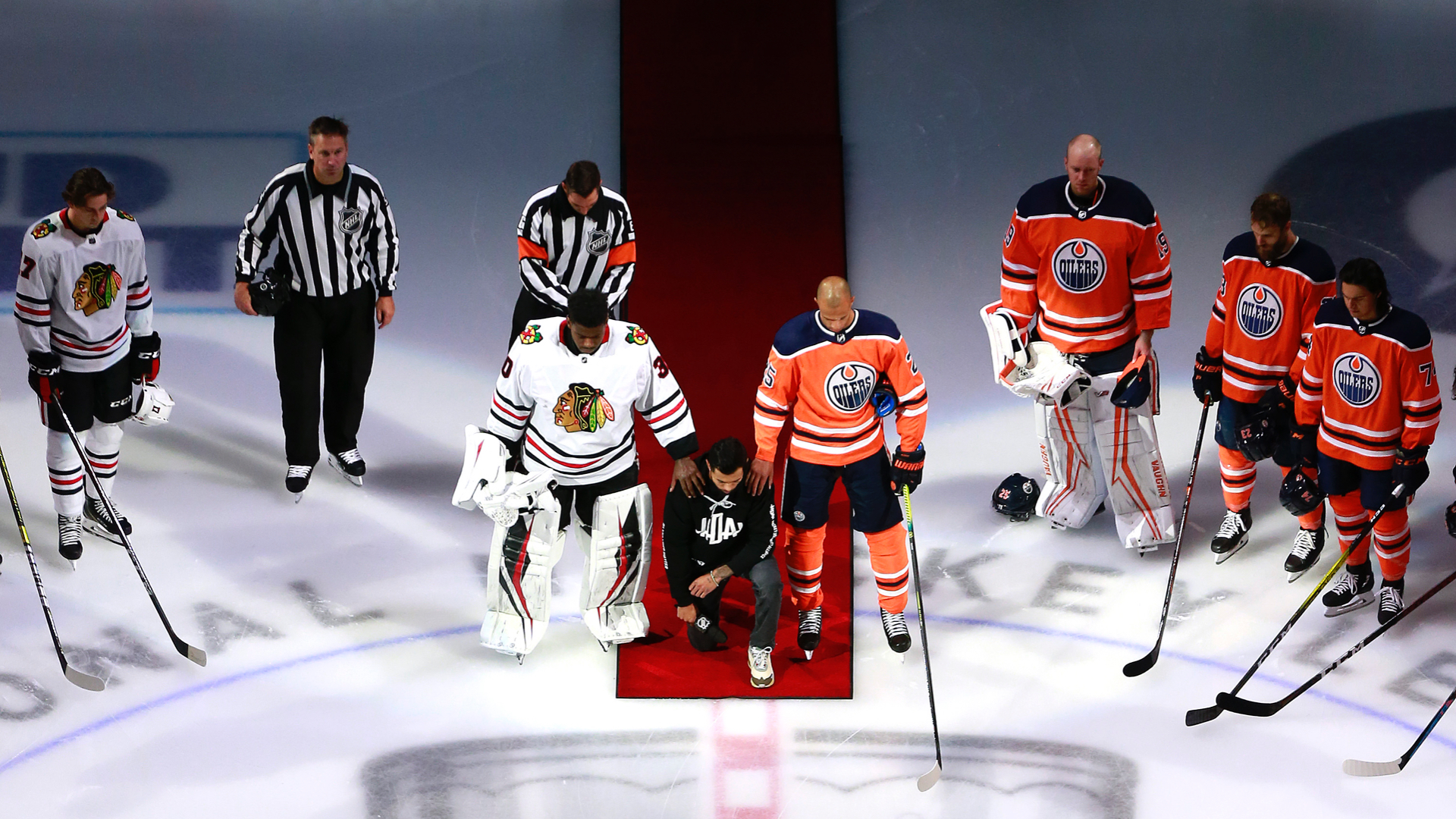 NHL's tone on racism shifts with Matt Dumba's pregame speech, Oilers-Blackhawks anthem