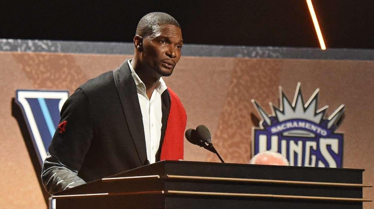 Chris Bosh 2021 Basketball Hall of Fame Enshrinement Ceremony