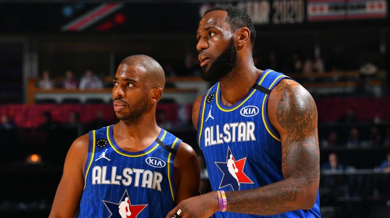 Chris Paul LeBron James Team LeBron 69th NBA All-Star Game