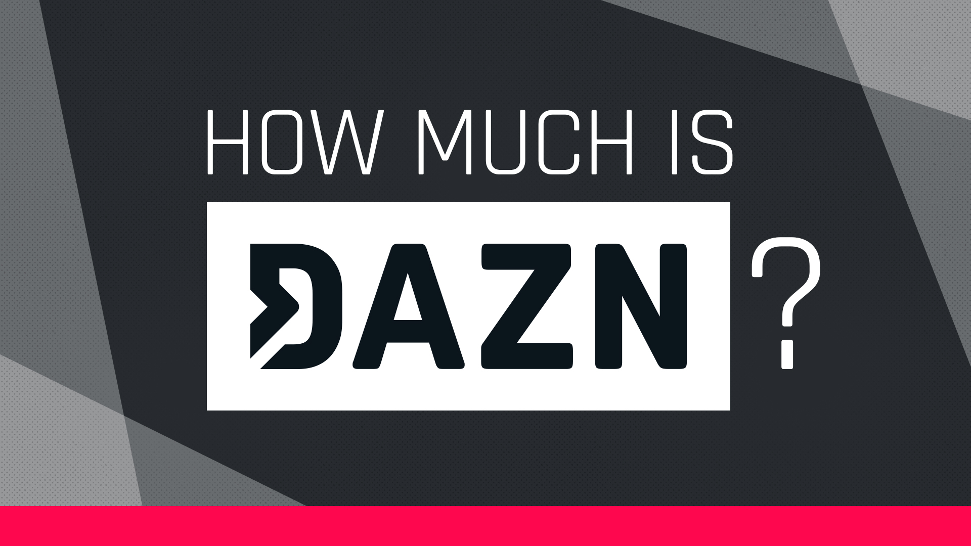 How much does DAZN's live sports streaming service cost?