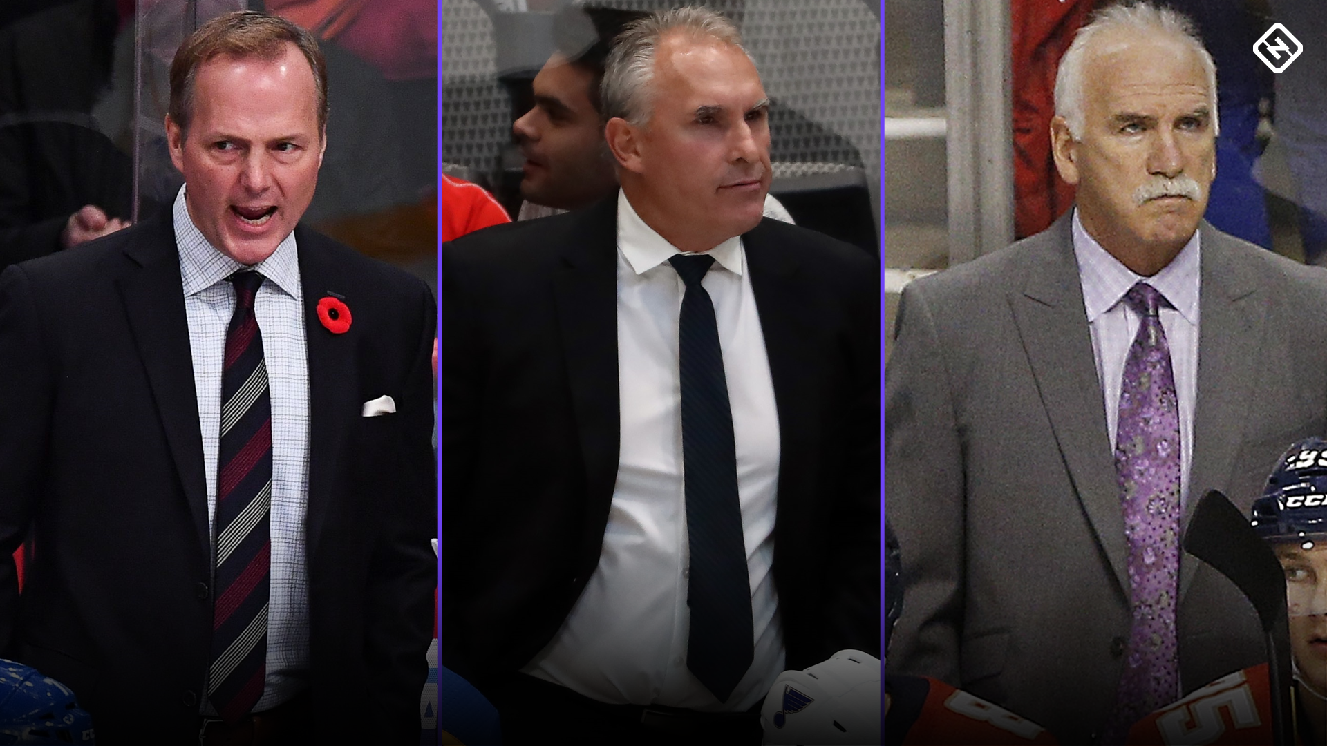 Who are the 31 NHL teams' head coaches for the 2019-20 season?
